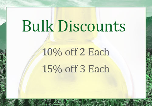 Bulk Discounts: Save 10% on 2 of each item and save 15% on 3 of each item
